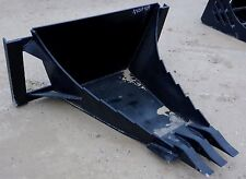 MTL Long Bottom HD Quick attach Skid steer Stump / Root tooth bucket