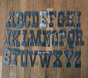 Steel Metal Letters and Numbers - 5 Inch Western Antique Rustic Décor 1/8 Thick