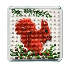 Red Squirrel Counted Cross Stitch Fridge Magnet Kit by Textile Heritage