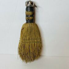 Primitive Vintage Hand Broom Whisk Wire Wrapped Straw Farmhouse Hand Sewn