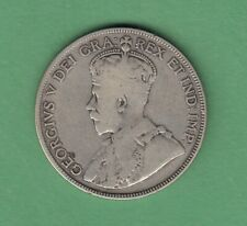 1931 Canadian 50 Cents Silver Coin - VG