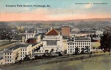 SCHENLEY PARK DISTRICT PITTSBURGH PENNSYLVANIA POSTCARD 1912