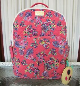 Luv Betsey Johnson Floral Backpack Tropical Quilted School Bag NWT
