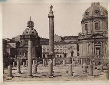 VINTAGE ALBUMEN TRAJANS FORUM, ROME.