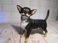 CHIHUAHUA DOG FIGURINE ORNAMENT FIGURE FIGURE GIFT BROWN / WHITE CHIHUAHA DOG
