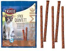 CAT TREATS Meat Sticks Pack of 5 LAMB & TURKEY Trixie Stick Quintett Cat Food