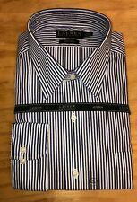 Lauren Ralph Lauren Button Down Non Iron Classic Fit Blue/White Stripes New Tags