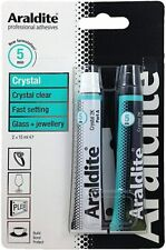 Araldite Crystal Clear Strong Adhesive Glue Glass Jewellery 2 x 15ml Tubes