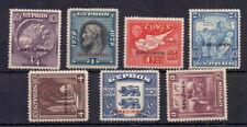 CYPRUS 1928 ANNIVERSARY TO 9pi ( 7 ) OVERPRINTED SPECIMEN