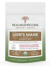 Organic Lions Mane Mushroom Extract Powder by Real Mushrooms - 60g Bulk Powder