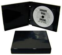 (1) CDBR2412BK Black 12 Disc Capacity CD DVD Album Book Storage Wallet 24mm