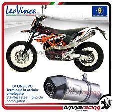 Leovince LV ONE Pot D'Echappement acier approuve KTM 690 Enduro R 2009>2017