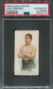 1887 ALLEN & GINTER JACK DEMPSEY BOXING TOBACCO CARD PSA AUTHENTIC