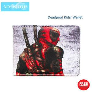 Deadpool with Katana - Children Teen-ages Faux Leather Bi-fold Slim Wallet