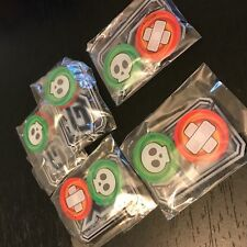 POKEMON TCG: 5x GX COUNTER + BURN & POISON MARKERS - OFFICIAL ACRYLIC COUNTERS