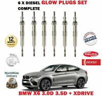 FOR BMW X6 3.0D 3.5D + XDRIVE M57N2 N57 2007->NEW 6X DIESEL ENGINE GLOW PLUG SET