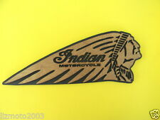 "Indian MOTORCYCLE  Wooden Plaque 12"" Indian headdress logo 2-toned wood UNIQUE"