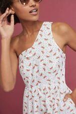 NEW Anthropologie Parkbound One Shoulder Dress Size 16 XL Watermelon HD In Paris