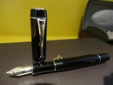 Parker Duofold Demi Mini Black Platinum Trim Fountain Pen 18k Gold Medium Nib