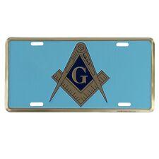 Mason Emblem Masonic G Metal License Plate Car Truck Tag Freemason Gift Auto Tag