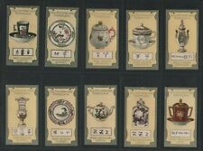 Lea Old Pottery & Porcelain Fifth Series 1913 Set of 50 cards VG to Excellent