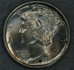 1919-S 10C Mercury Silver Dime Album Set Break High Grade Collection AU BU