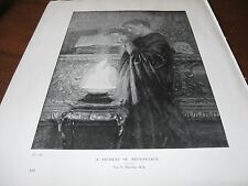 1898 Art Print - Necromancy Student Witch Witchcraft Wicca Wizard Black Paganism