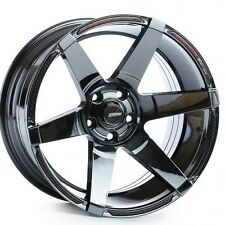Cosmis S1 18x9.5 +15, 18x10.5 +5 pcd 5-114.3 in Black Chrome
