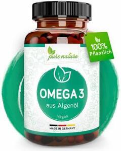 Omega 3 Vegan reines Algenöl DHA & EPA essentielle Fettsäuren 60 Kapseln