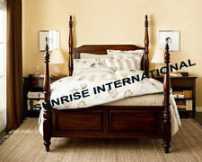 Contemporary Wooden King size Poster Double Bed !!