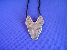 Basenji necklace African Face #40P Pewter Hound Dog Jewelry by Cindy A. Conter