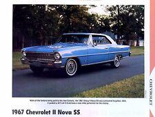1967 Chevrolet Chevy II 2 Nova SS 327 ci info/specs/photo/price production 11x8