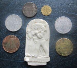 Lot of Old German Coins / Tokens inc 1919 Trier 10 Pfg & 1939F 50 ReichsPfennig