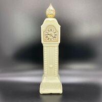 Avon Fragrance Hours Charisma Cologne Bottle White Grandfather Clock