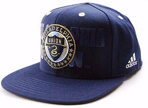 Philadelphia Union FC Adidas NZP50 Academy  MLS Soccer Team Snapback Cap Hat