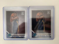 2x LOT 2019-20 Donruss Optic Zion Williamson Rated Rookie Base RC Pelicans
