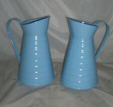 2015 Tin jugs x 2 pieces blue 24 cm tall wedding tables kitchen not waterproof