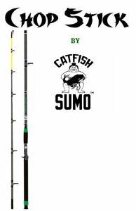 Trophy Catfishing Rod: Casting, 7 ft, 6in, Medium-Heavy, 10-50lb, EVA Foam
