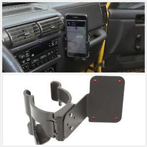 Multi-Function Drink Cup Holder Phone Mount Bracket For Jeep TJ Wrangler 97-2006