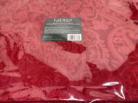 Ralph Lauren Cotton Blend Placemats Paisley Damask Red - NEW Set Of 4 T5