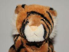 "Aurora Bean Bag Plush Tiger Orange Black Cat Stuffed Animal 14"" Soft Toy Lovey"