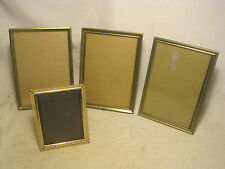 4 x vintage ornate metal & glass picture photo frame frames photographs