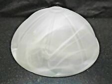 FROSTED W SWIRLS ALABASTER GLASS GLOBE SHADE CEILING FAN LAMP TORCHIERE LIGHTING