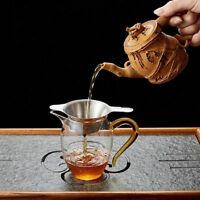 New Stainless Steel Tea Strainer Fine Mesh Chinese Kungfu Tea Leaf Funnel Filter