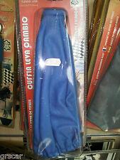 Cuffia Copri Leva Cambio Similpelle gear gaiter leather Tuning Blu Universale