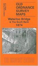 MAP OF WATERLOO BRIDGE & THE SOUTH BANK 1874