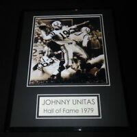 Johnny Unitas Framed 11x14 Photo Display Baltimore Colts
