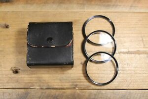 Vintage Aroma Close Up Filters Set 55mm x3 +1 +2 +3 with Case Japan