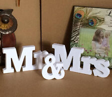 Wedding Reception Engagement Party Sign Wooden Letters Mr & Mrs Table Top Decor