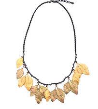 """Michael Michaud Autumn Birch 18"""" Adj. Statement Necklace #9059GMG"""